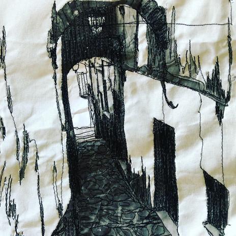 Stitched Illustration of Atessa's narrow stradine
