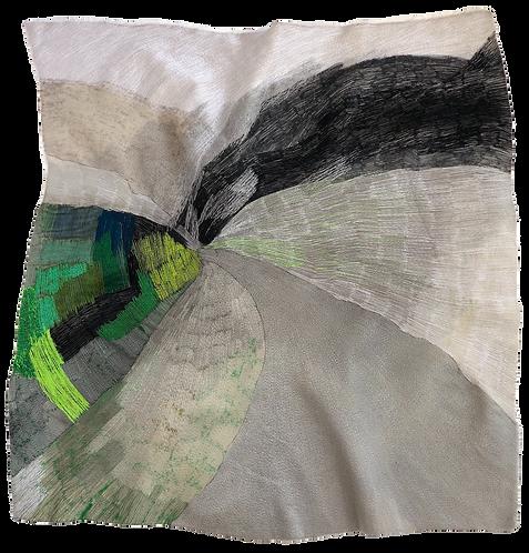 Silver llining Fresh Growth Free machine Embroidery