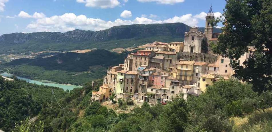 The beautiful hillside village of Colledimezzo