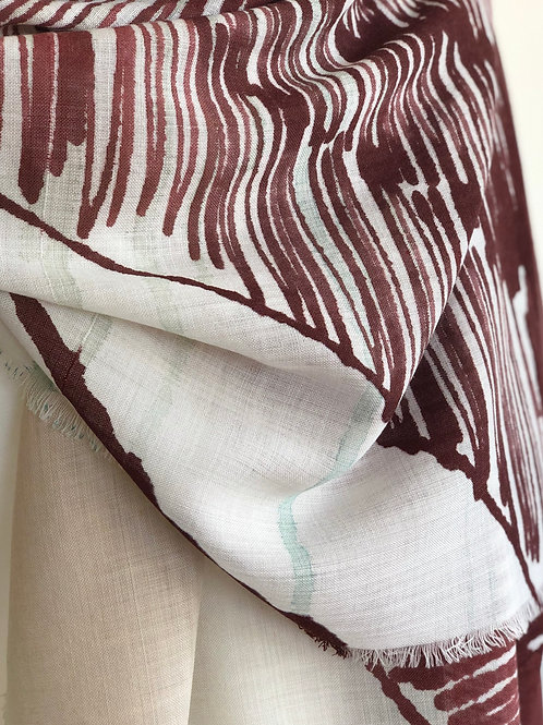 Hand Painted Wool Scarf -Linear Land