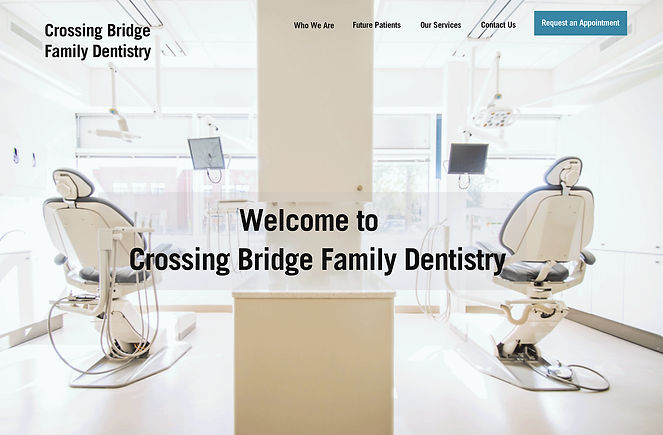 Crossin Bridge Dentistry homepage