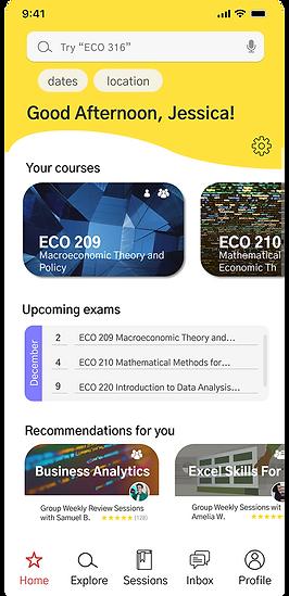 UX design mid-fi prototype peer tutoring app