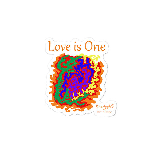 Love is One Bubble-free stickers