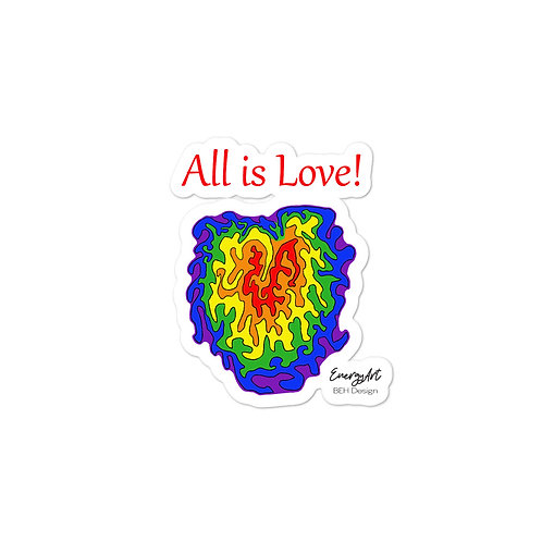All is Love! Bubble-free stickers