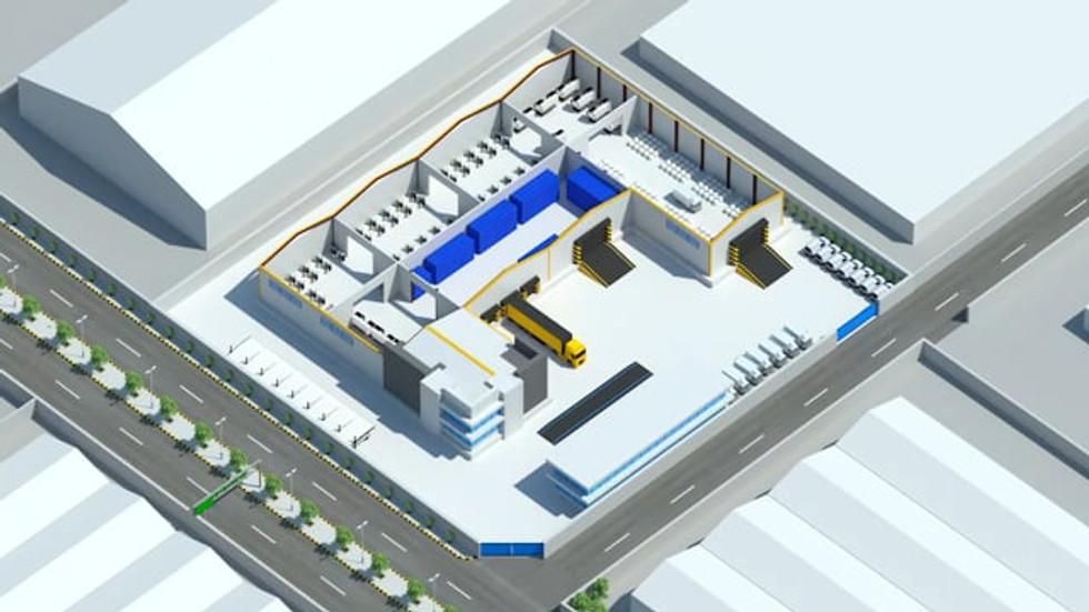 3D Factory Isometric Infographic