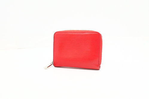 Louis Vuitton Zippy Coin Case in Red Epi Leather