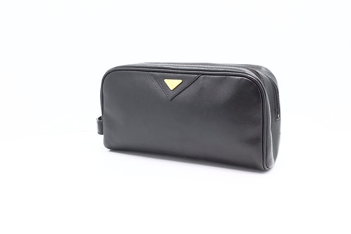 Yves Saint Laurent YSL Pouch in Black Leather