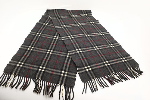 Burberry Mini Classic Check Cashmere Scarf in Charcoal