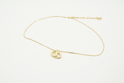 Christian Dior Necklace Initials CD in Gold Tone