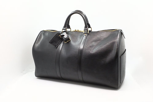 Louis Vuitton Keepall 55 in Black Epi Leather
