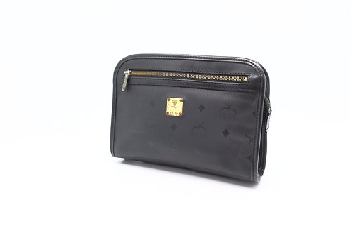 MCM Clutch Bag in Black Canvas