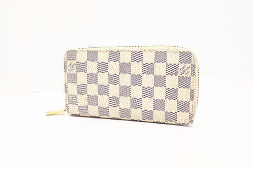 Louis Vuitton Zippy Long Wallet in Damier Azur Canvas