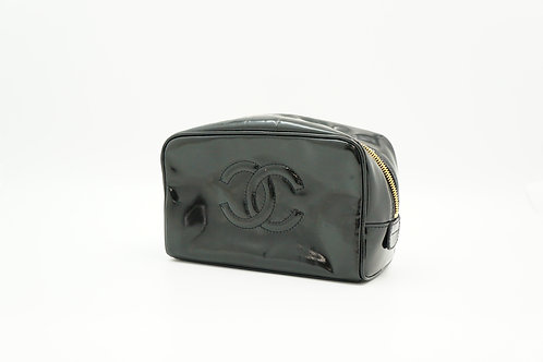 Chanel Timeless Line Cosmetic Case in Black Patent Leather