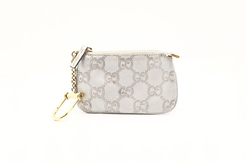 Gucci Guccissima Coin Pouch / Key Case in Grey