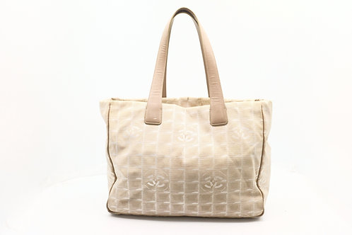 Chanel New Travel Tote Bag MM in Beige Nylon