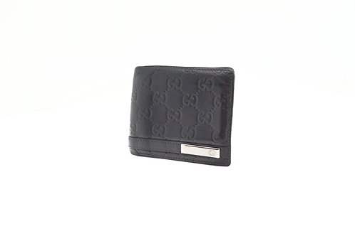Gucci Guccissima Bifold Wallet in Black Leather