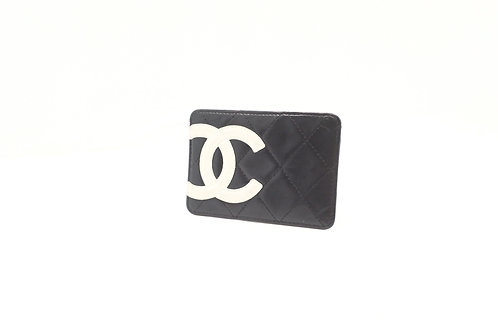 Chanel Cambon Card Holder in Black Leather