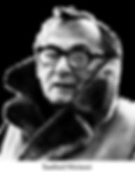 Black and white portrait of sanford meisner