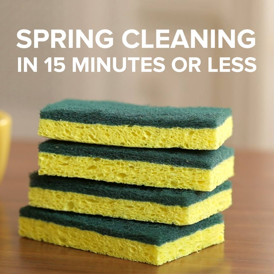 11 Spring Cleaning Tips That Take 15 Minutes Or Less