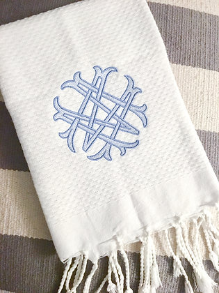 White Turkish Guest Towel