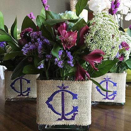 Burlap Vase Wrap