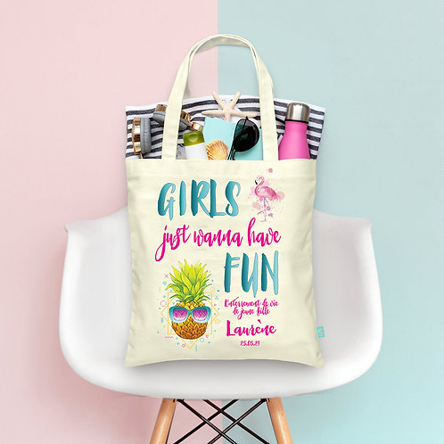 "Tote Bag ""Girls wanna have Fun"" EVJF personnalisé"