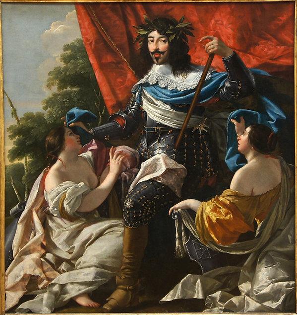 Analyse Simon VOUET - Portrait Louis XIII les lignes de regard sur le curieux index.