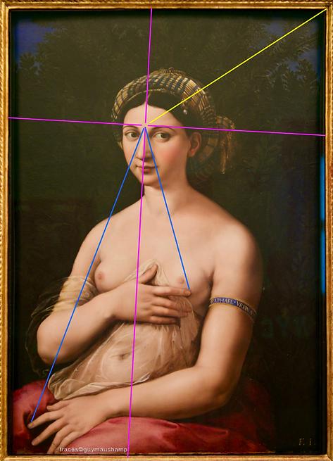 RAPHAEL, La fornarina, 1519, les lignes de l'âme.