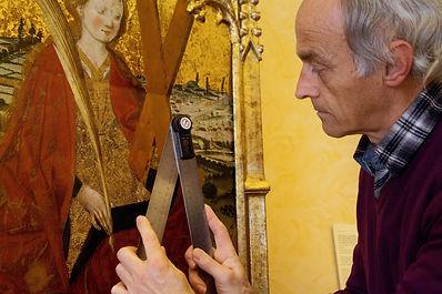 Relevé d'angles sur une œuvre peinte au musée des Beaux Art de Dijon