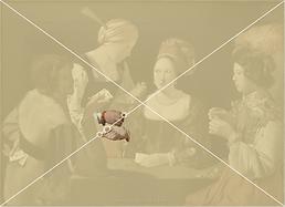 Delatour, le tricheur, composition sur une diagonale