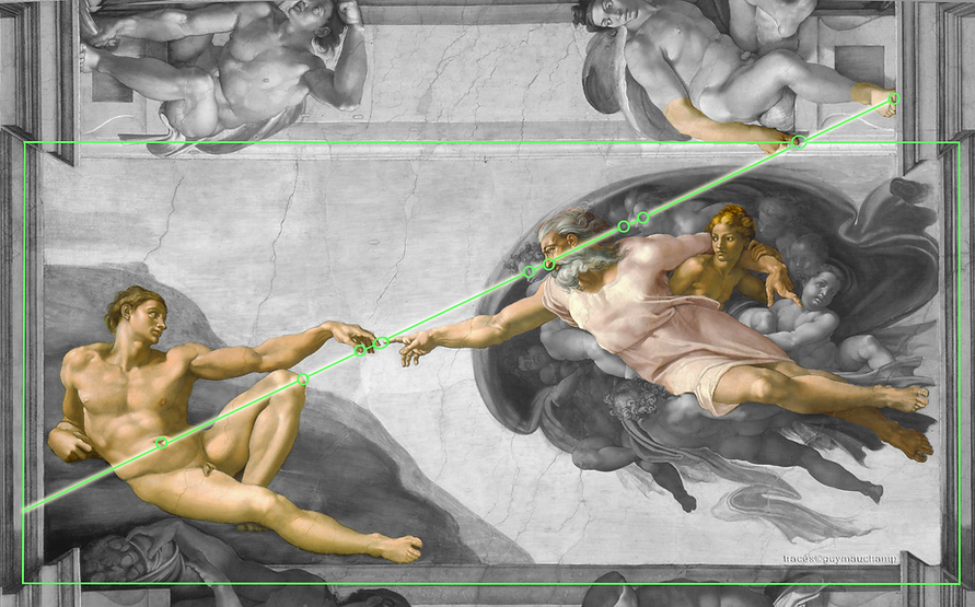 Michel-Ange - La création d'Adam - L'obl
