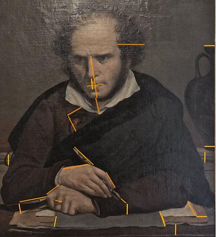 Girodet autoportrait quinte de rapports dorés