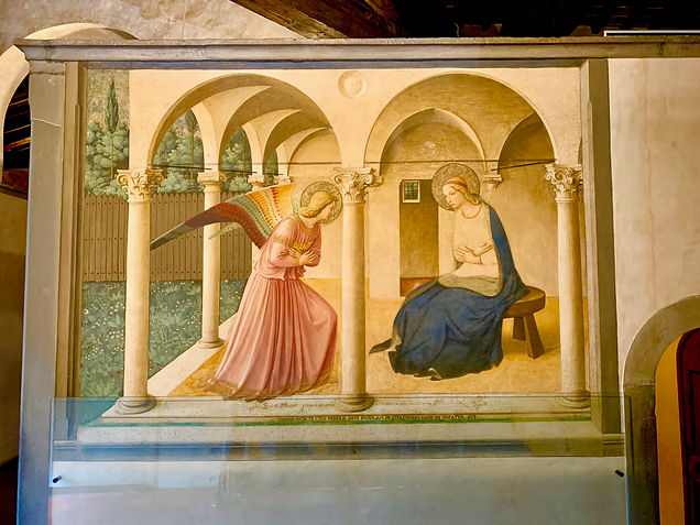 Fra Angelico - Annonciation - 1437 - Florence Couvent San Marco - photo Guy Mauchamp