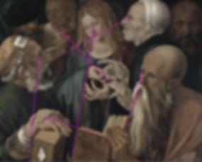 DURER Jésus chez les docteurs - Lignes narratives