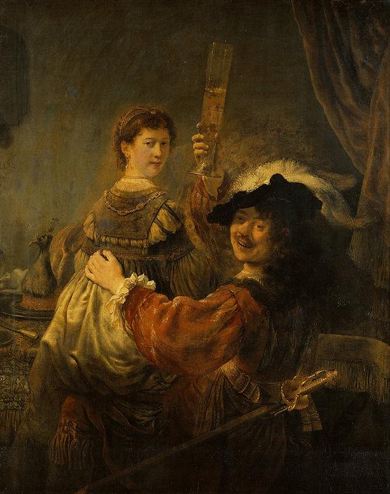 Rembrandt Saskia, 1635, Dresden, Googgle Art Project