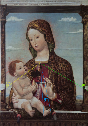 BENAGLIO VIerge enfant poire 1465 ANGLES
