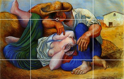 Picasso_-_Paysans_endormis_-_grille_des_