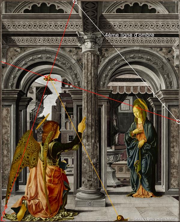 Del COSSA Annonciation - 4ème ligne d'ombre et le souffle de Dieu