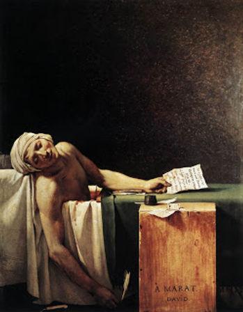 J-L DAVID, La mort de Marat, présence du rapport doré, photo gm