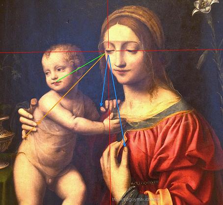 LUINI les regards de Marie, œil droit.