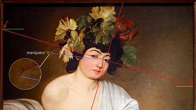 Caravage - Bacchus (détail) - La branche
