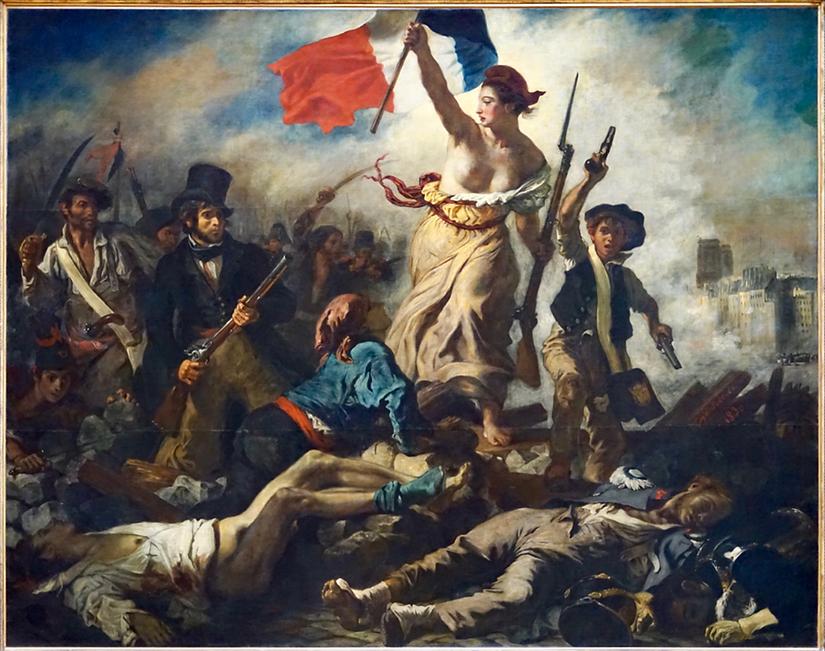 Delacroix, La liberté guidant le peuple,