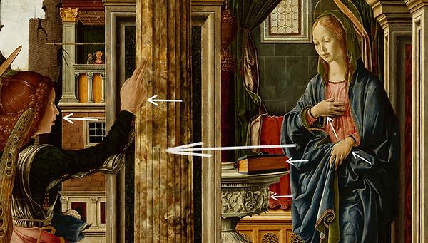 Del Cossa Annonciation, le rayonnement de Marie