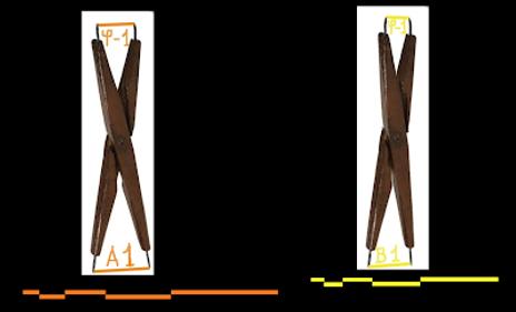 Compas d'harmonie montrant deux quintes dorées