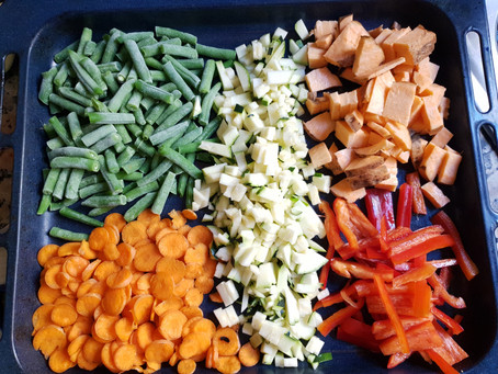 Roast Veggie Salad: easy,full of nutrions AND delicious!