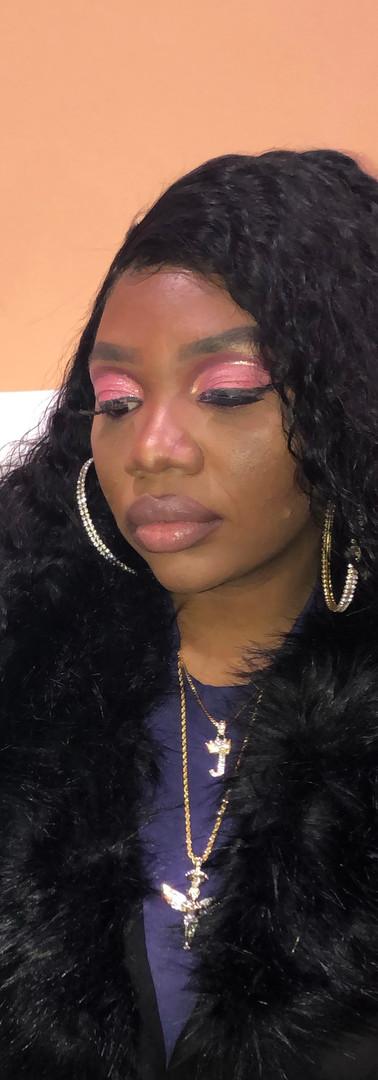 Pink & Gold Cut Crease