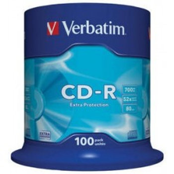 CD-R 700MB 52X EXTRA PROTECTION SURFACE Cake 100 Unidades VERBATIM