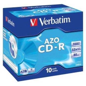 CD-R 52X AZO -Jewel Case Pack 10 Unidades VERBATIM