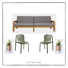 Sofá de exterior - Silla de comedor de exterior - Maceta