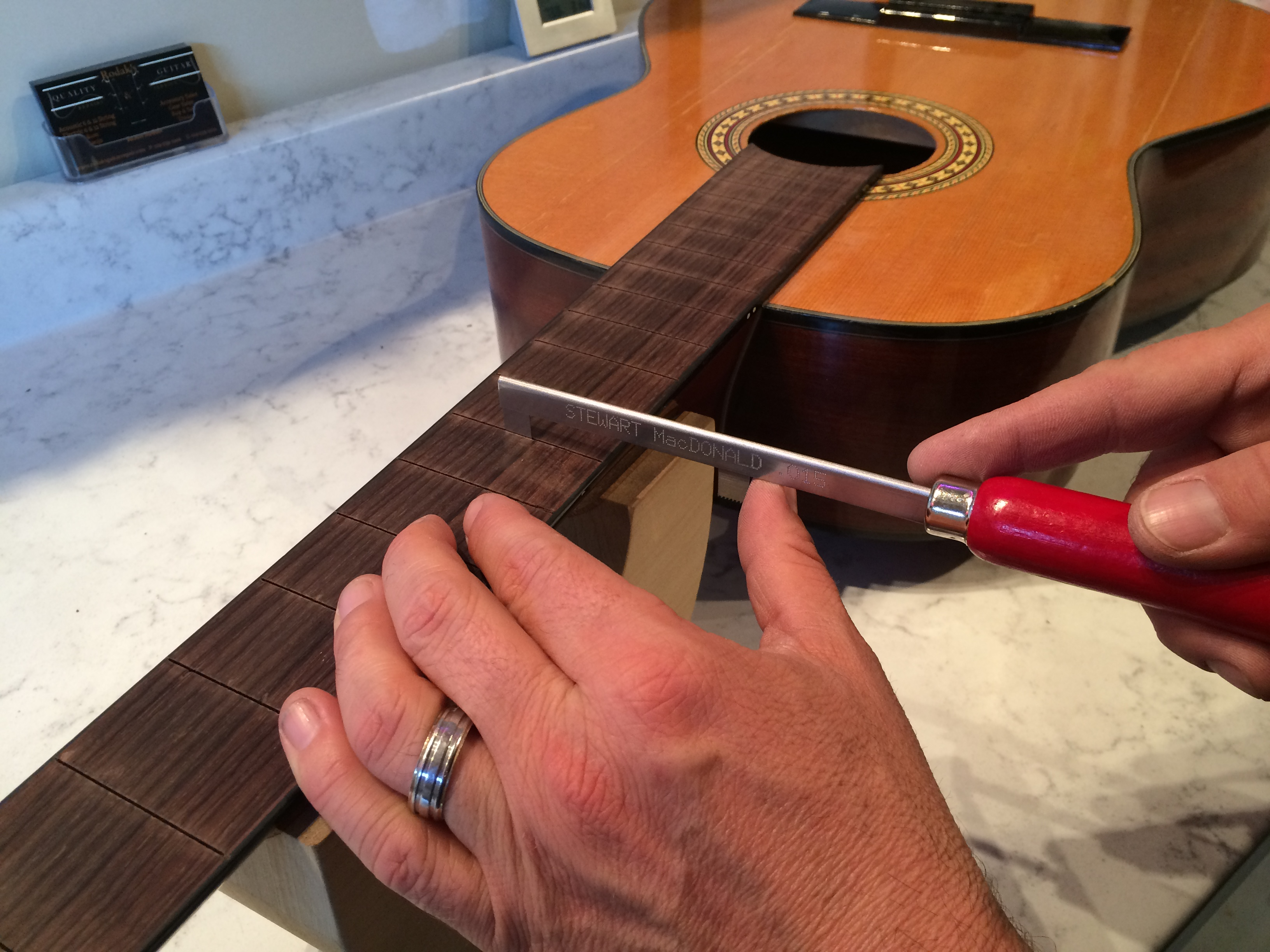 Preparing the Fret Slots